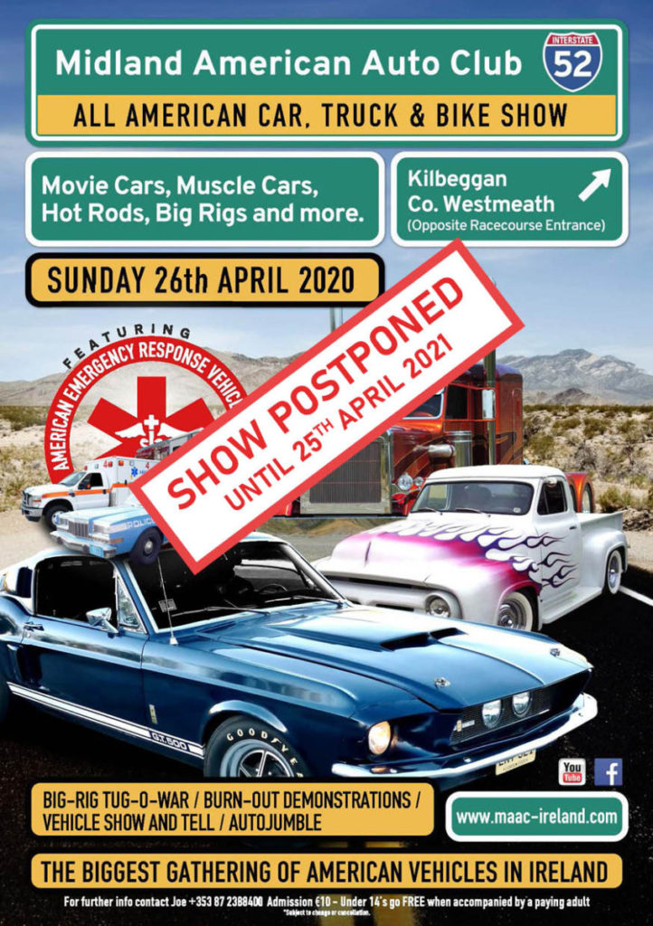 MAAC SHOW PROSPONED UNTIL 25th APRIL 2021